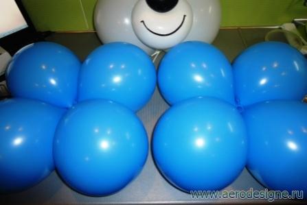 мишка из шаров фото инструкция - фото 7