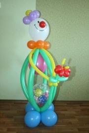 Как сделать из шаров из плоских шаров