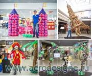 Продвижение оформительских услуг с помощью инсталляций из шаров