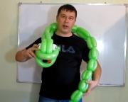 Змея (удав) из шаров для моделирования (ШДМ)