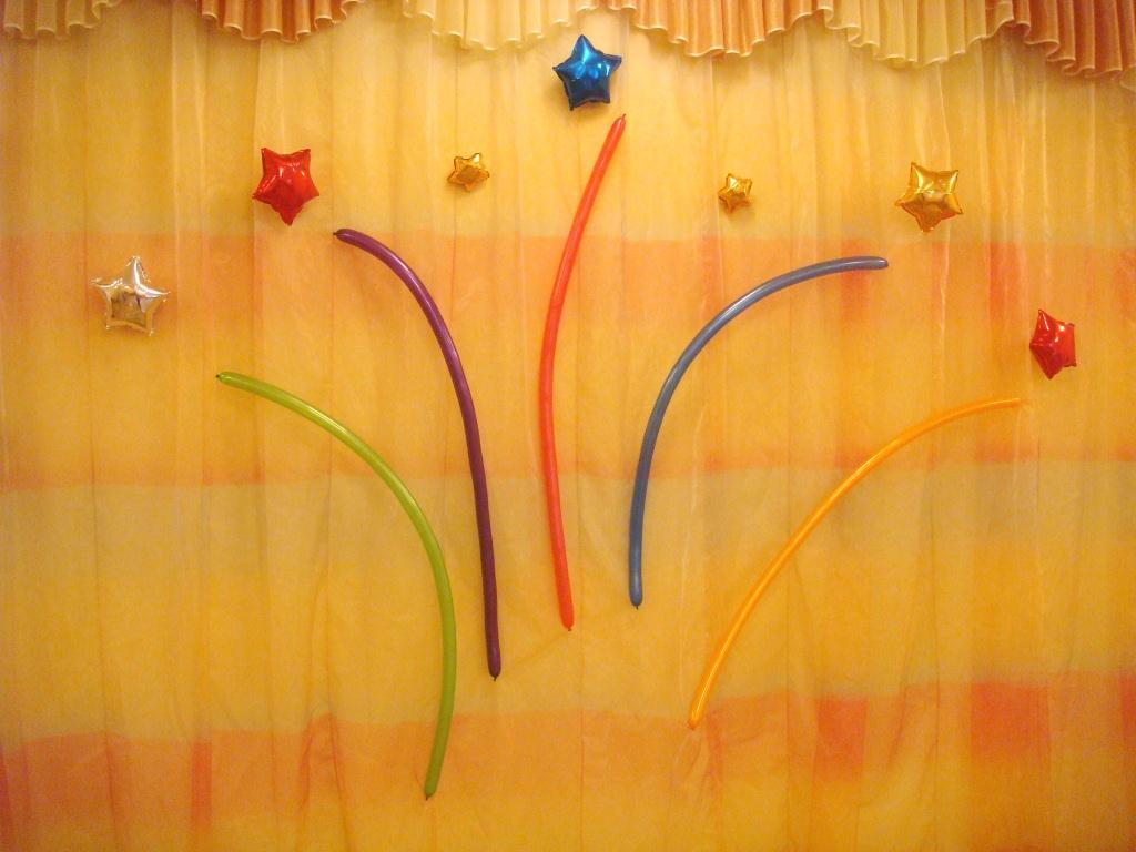 Салют из шаров. Как сделать праздничный салют из воздушных шаров своими руками. Праздничный салют из шариков