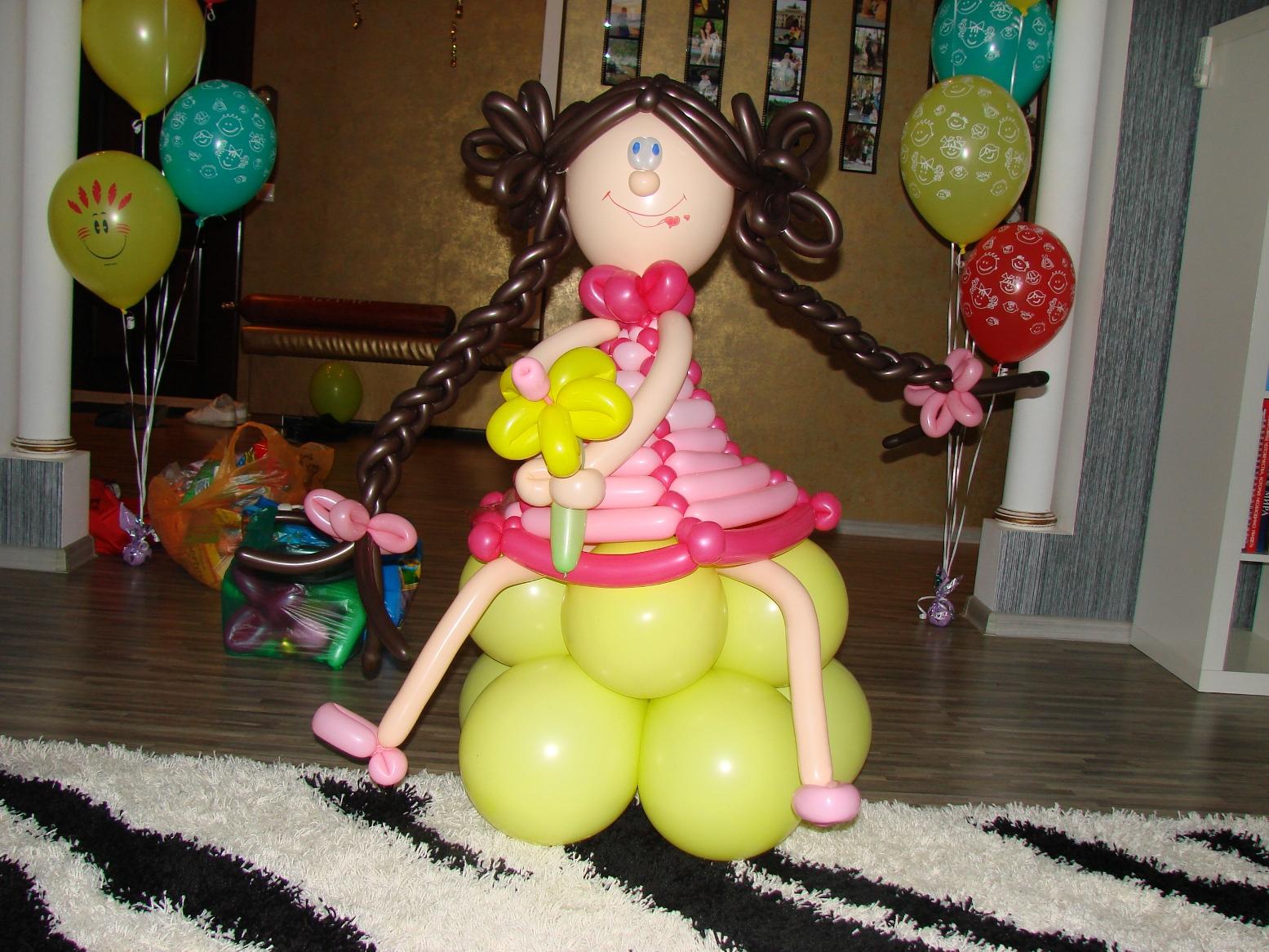 Куклы своими руками из шаров 40