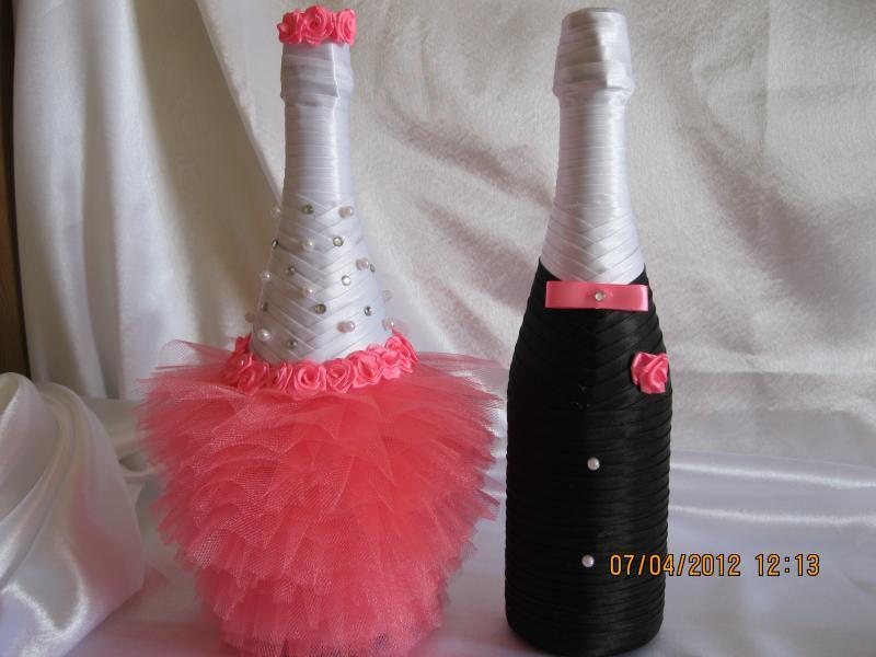 Оформляем шампанское на свадьбу своими руками