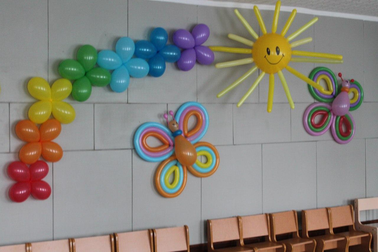 Как украсить зал из шариков своими руками 30