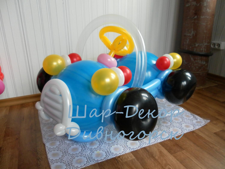 Машина из шаров фото 4