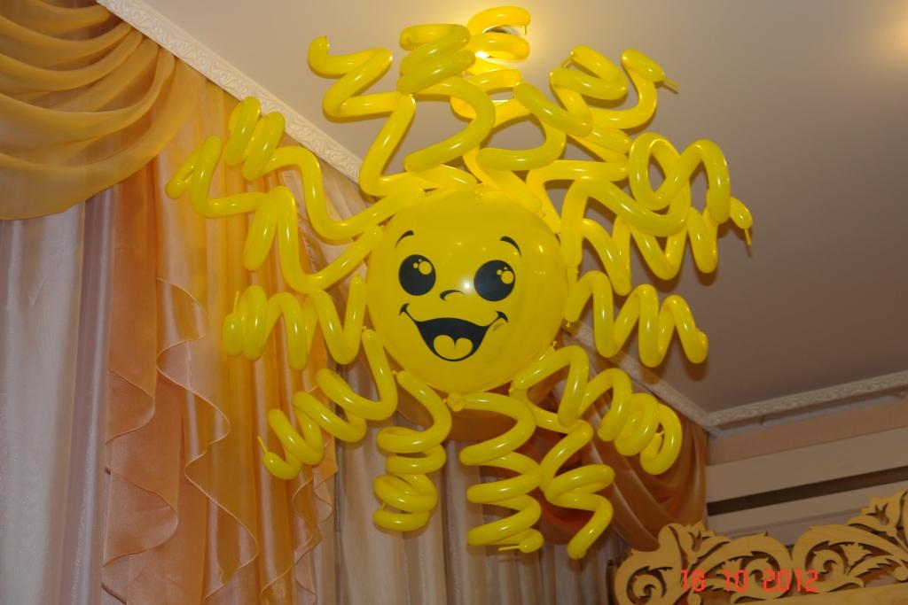 Как сделать солнце из шаров своими руками