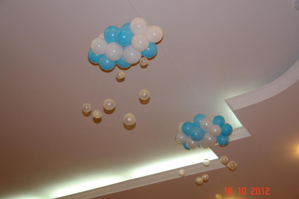 Облако из шаров своими руками мастер класс